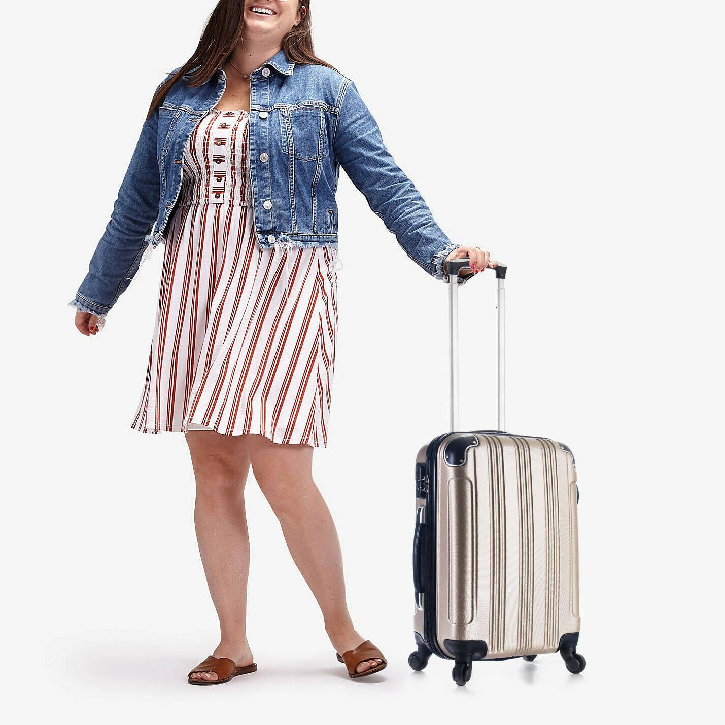 Carry on Travel Lightweight Rolling Hard