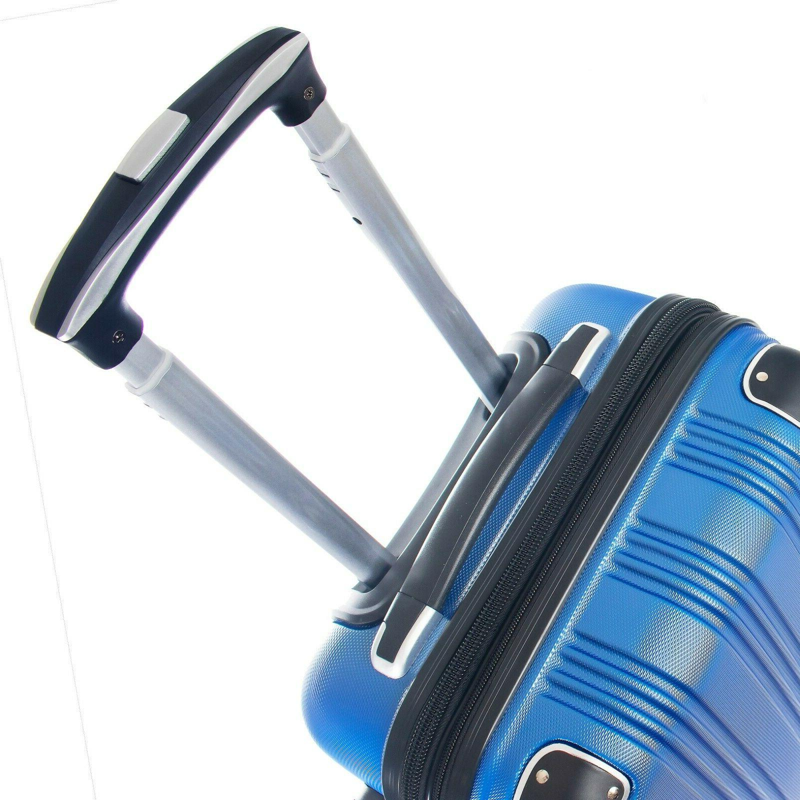 Carry Luggage Travel Rolling Hard Shell New
