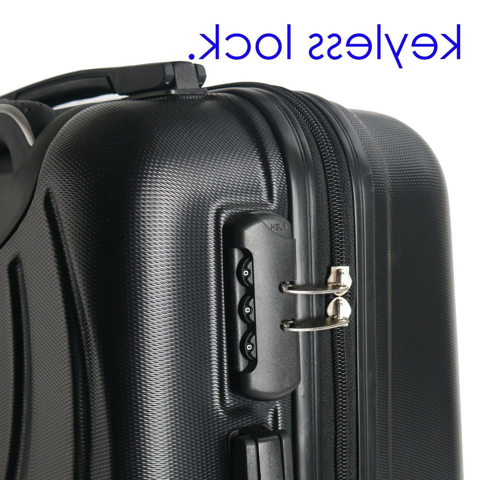"22"" Luggage Lightweight Hard Shell Black New"