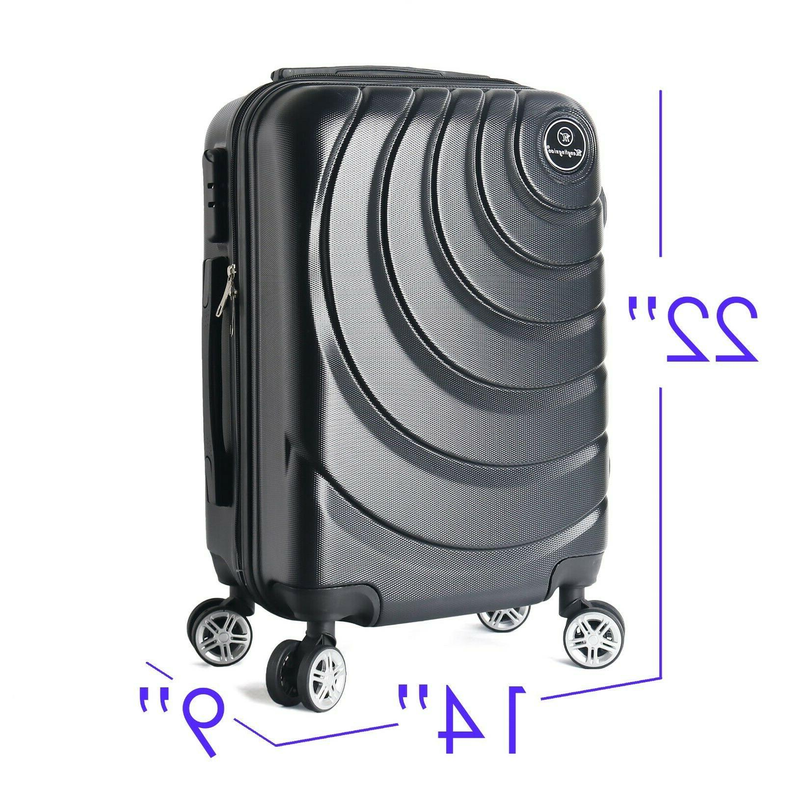 "22"" Carry on Luggage Rolling Hard"