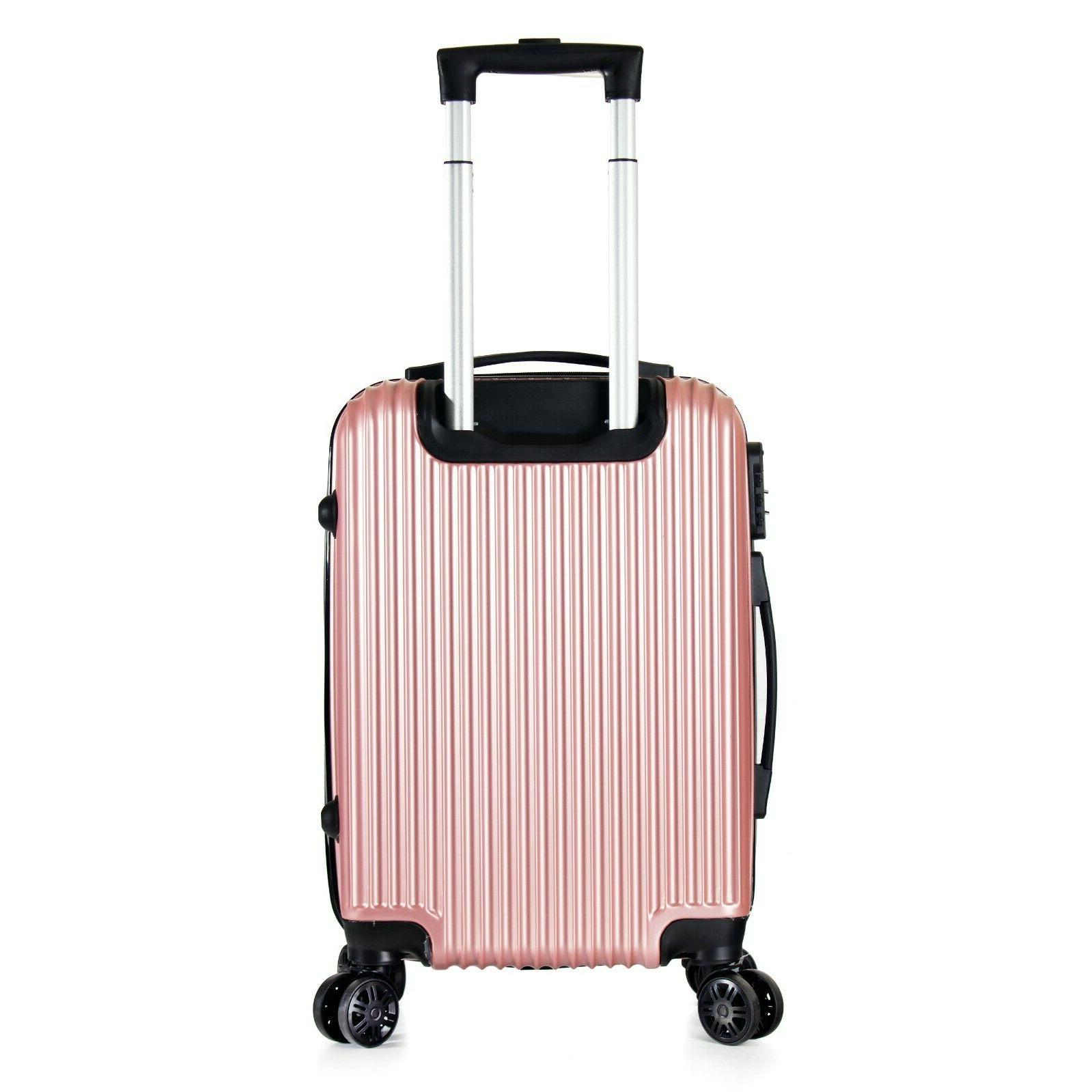 "22"" Carry On Luggage Lightweight Rolling Spinner Hard"