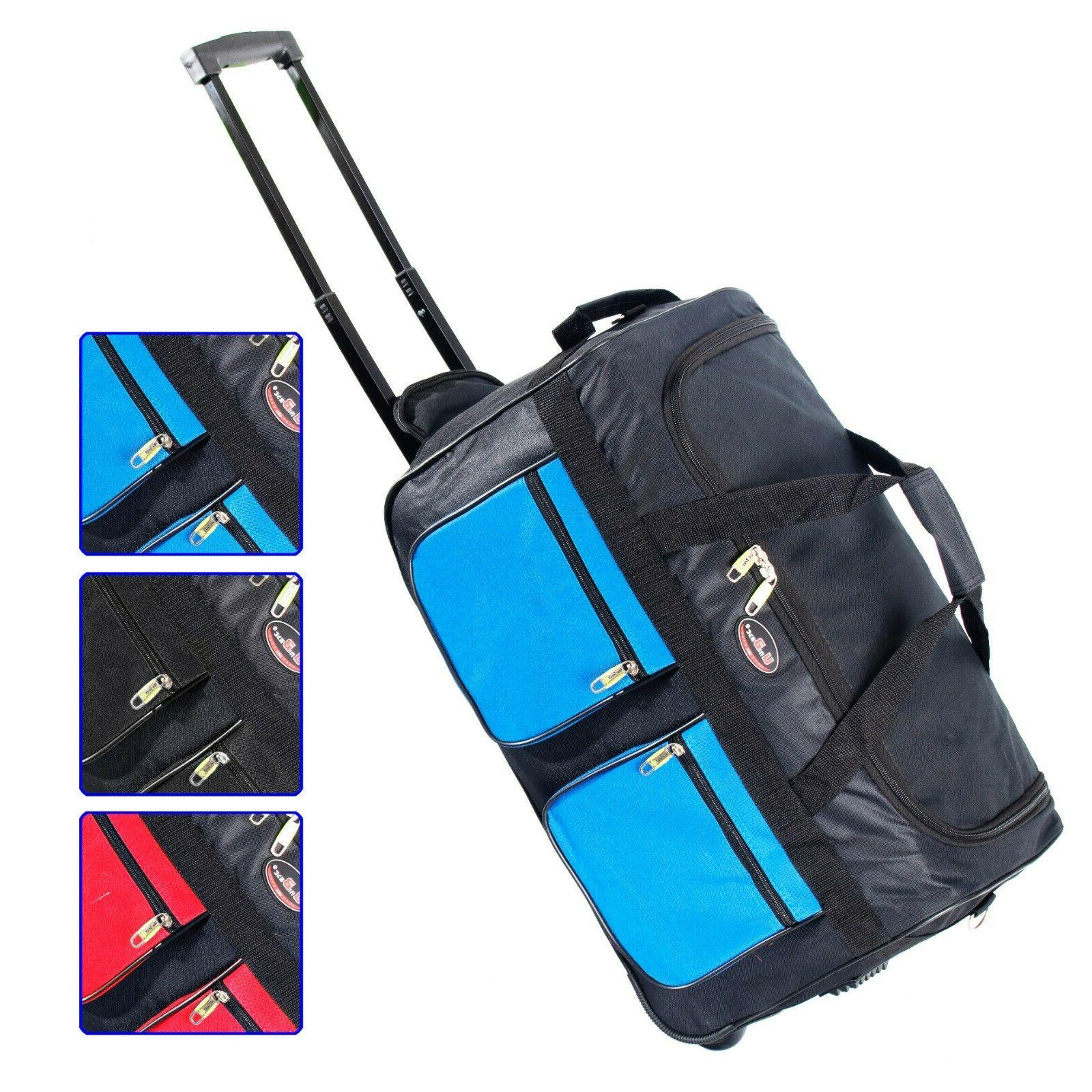 22 rolling wheeled duffle bag tote carry