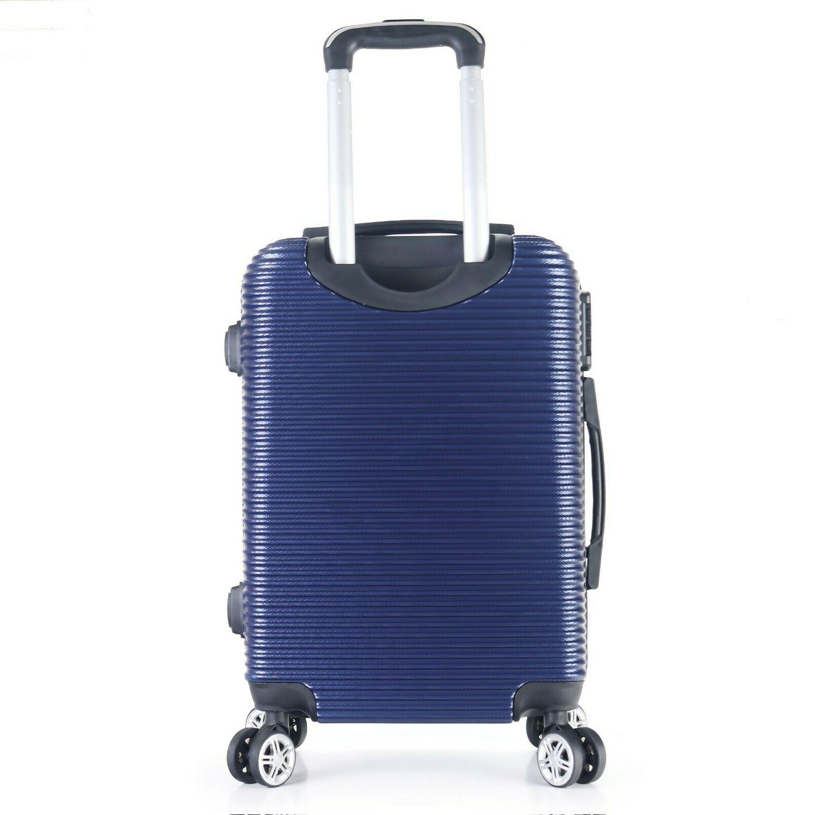 """22"""" Carry-On Hard Lightweight Case Wheels Degrees"""
