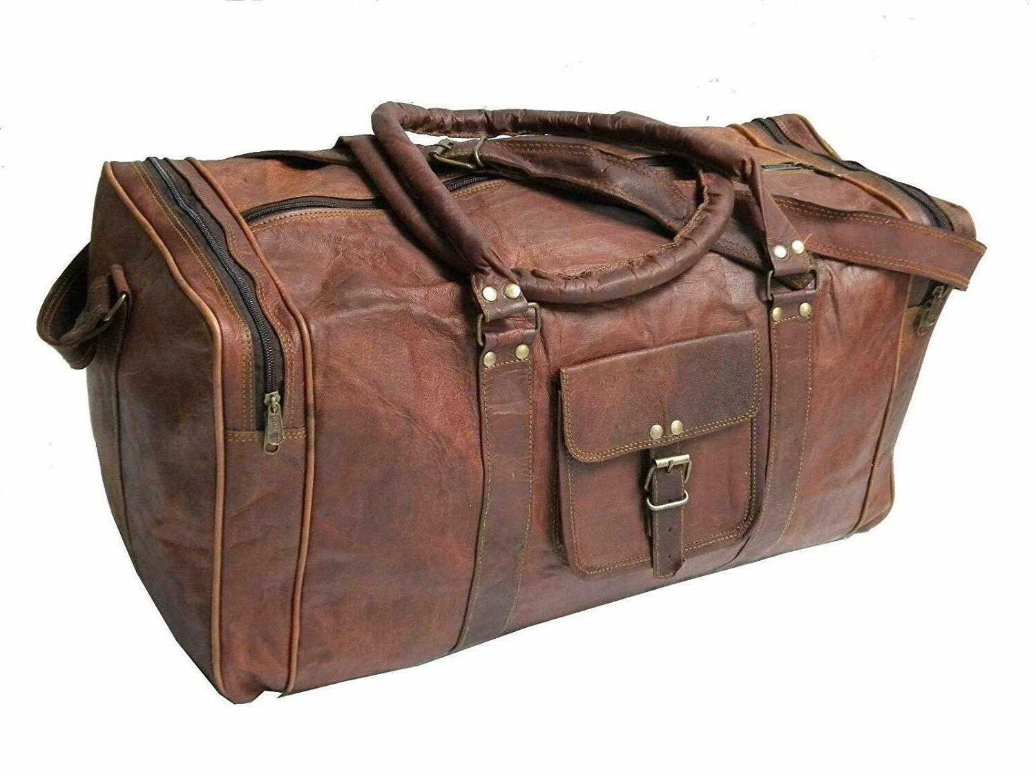 """25"""" Vintage New Men Real Luggage S Travel Duffel"""