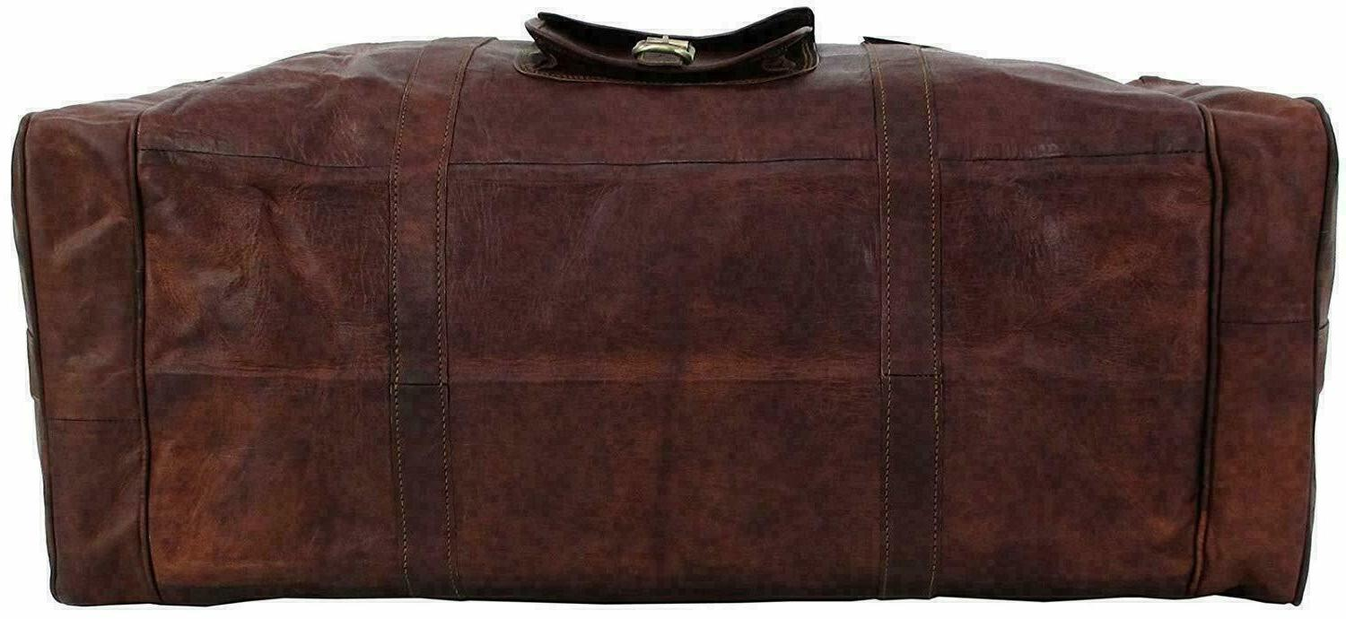 """25"""" Vintage Men Real Leather Luggage Duffel"""