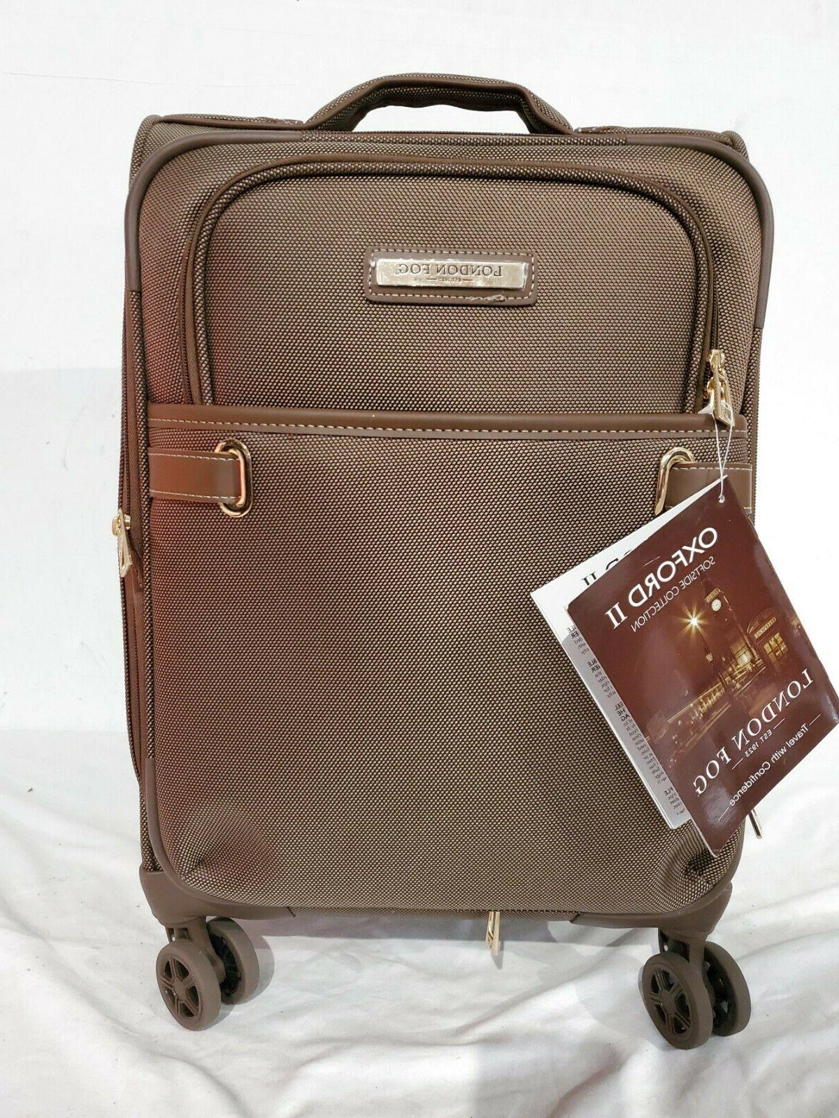 $280 Fog Oxford II Expandble Spinner Carry-On Suitcase Luggage Bronze