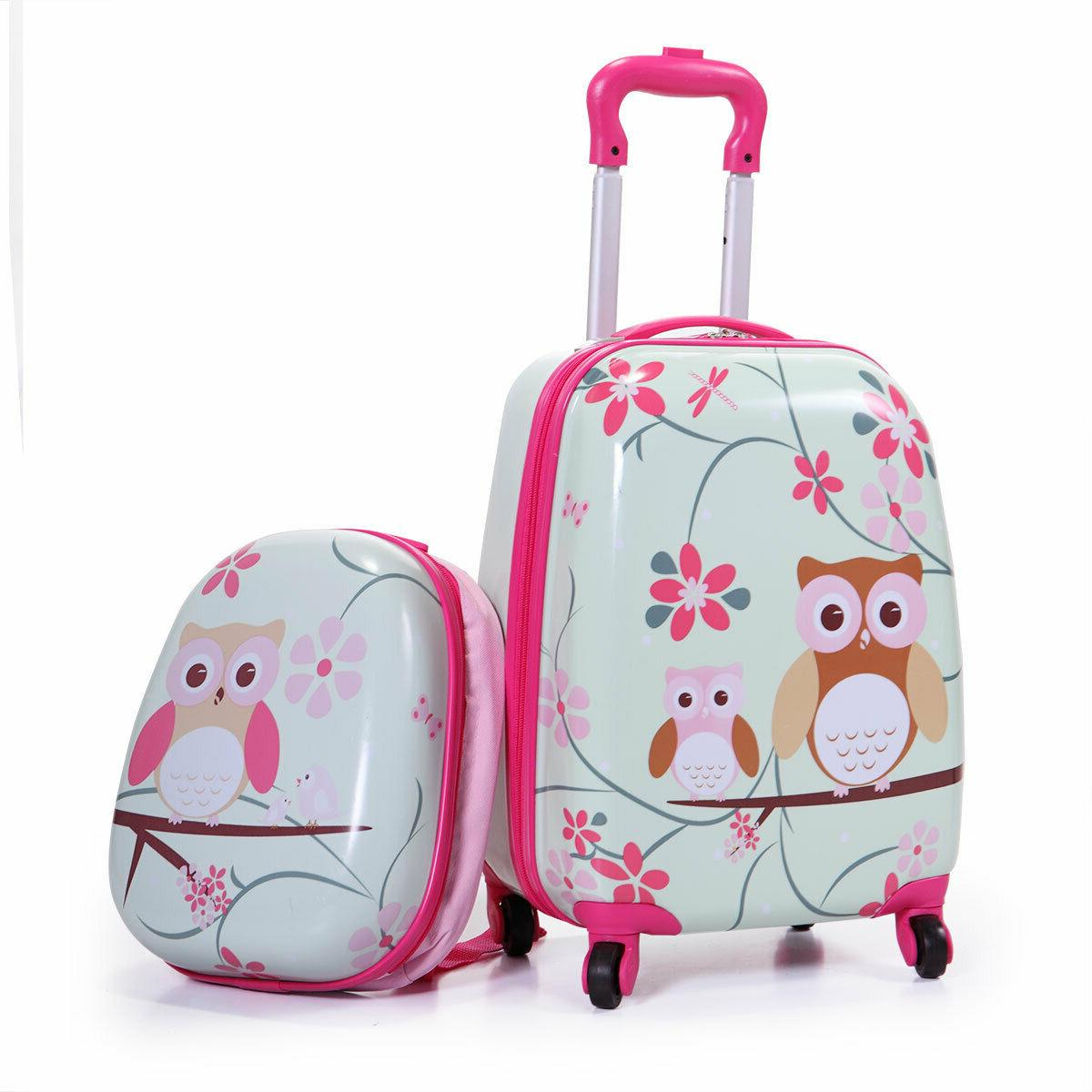 2Pcs Carry On Luggage With Suitcase Cute Set
