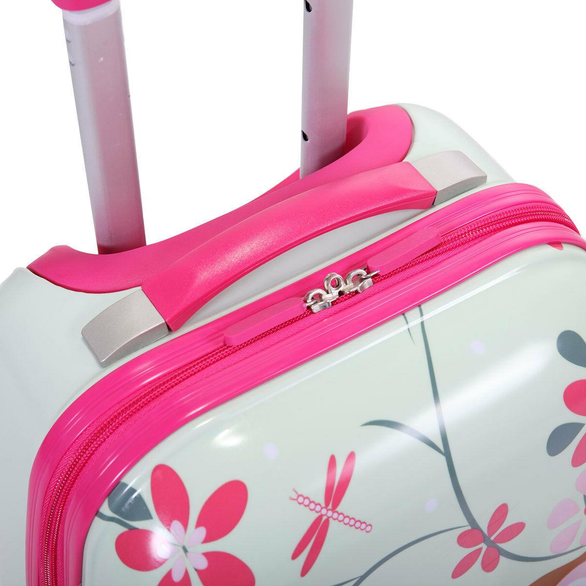 2Pcs Carry With Rolling Suitcase Backpack Set