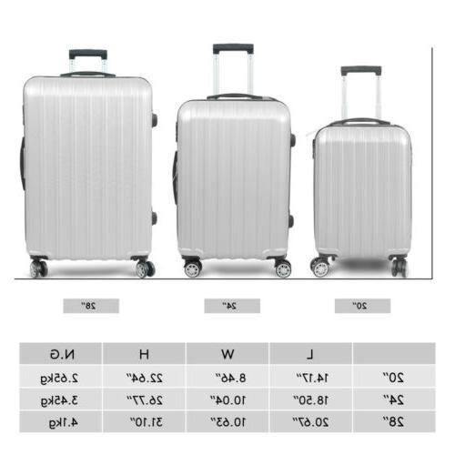 3PC Luggage Hardshell Trolley