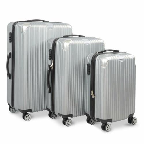 3PC / Travel Luggage Hardshell Suitcase Business Trolley