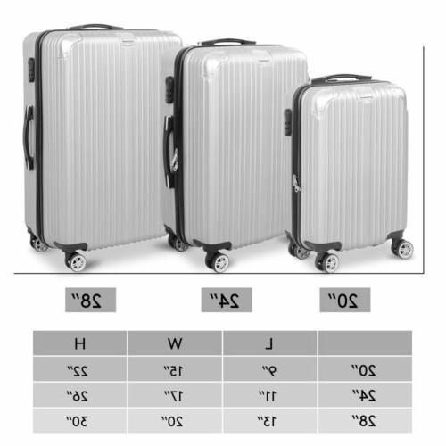3PC Travel Luggage Hardshell Business Trolley