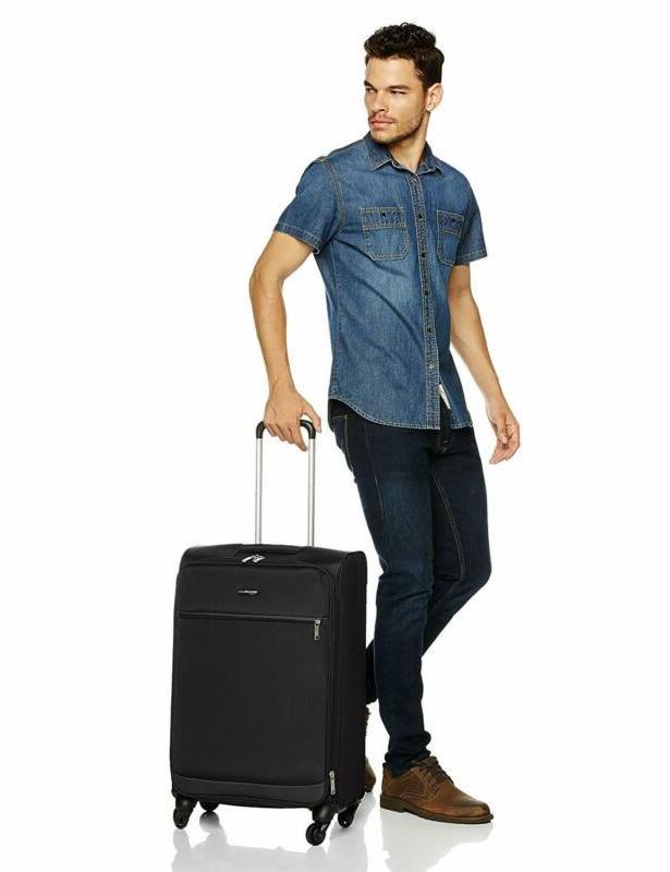 AmazonBasics Softside Carry-On Spinner Luggage Set