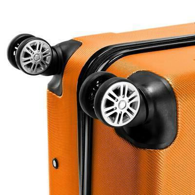 "3Pcs 20/24/28"" Travel Bag TSA Trolley Carry On Orange"