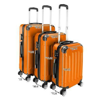 "3Pcs 20/24/28"" Bag Trolley Orange"