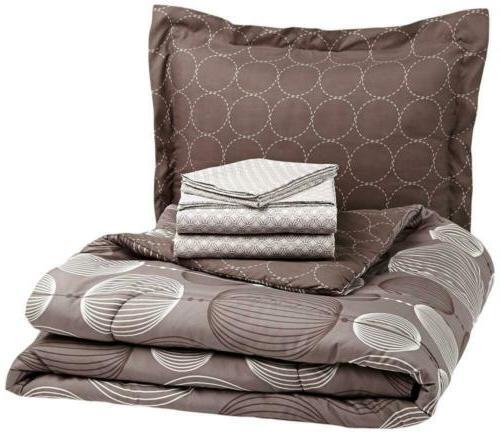 5 piece bed in a bag comforter
