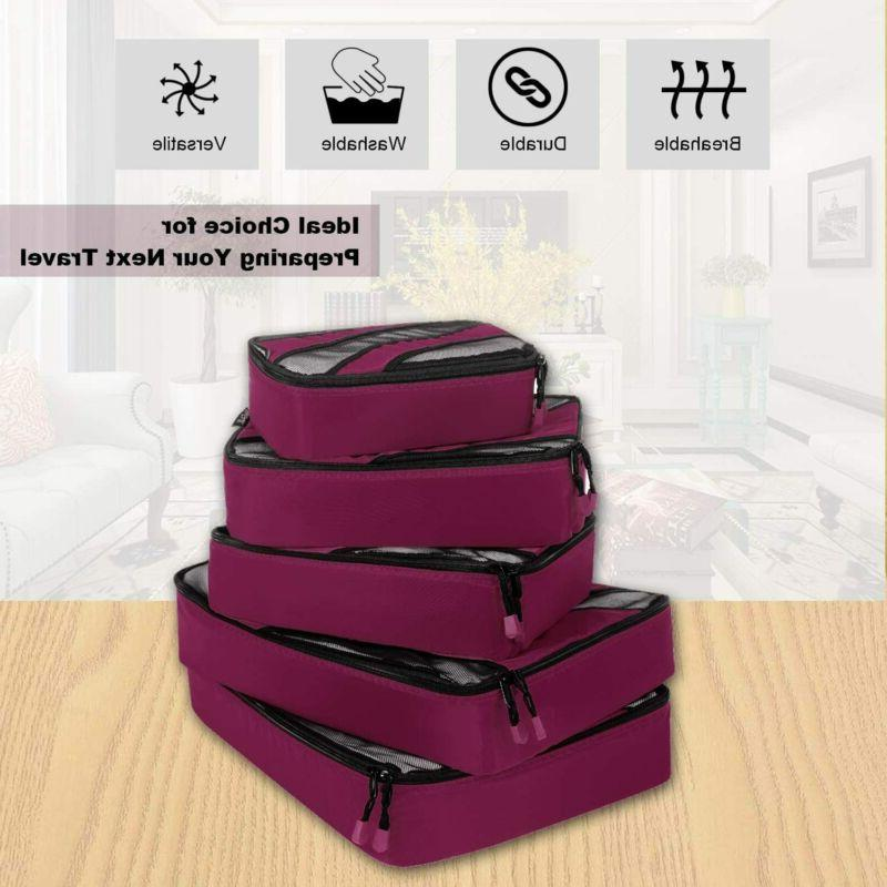 Bagail 5 Travel Packing Cubes Carry On Ykk Z