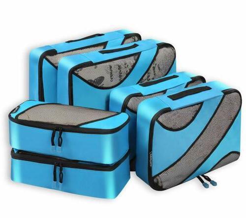 Bagail 6 Set Cubes,3 Travel Luggage Organizers