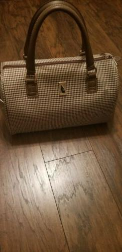 LONDON FOG BROWN NYLON TRAVEL LUGGAGE CARRY ON DUFFLE WEEKEN