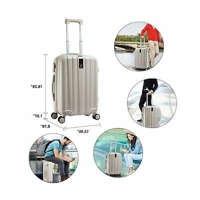 Hanke Luggage 20in PC Hardside Luggage