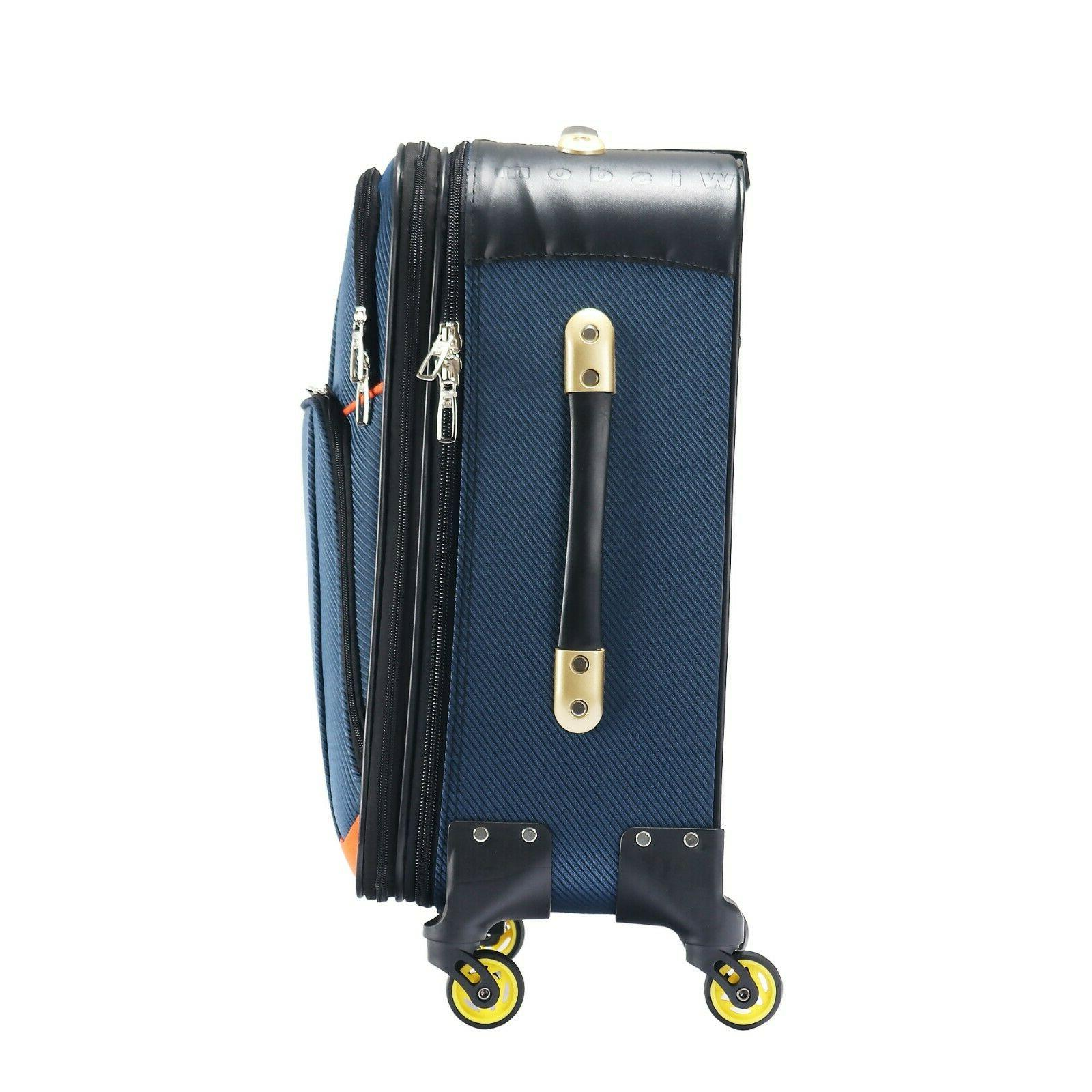 Carry Luggage Travel Lightweight Spinner Expandable Black