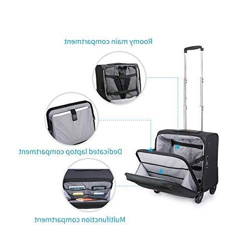 Hanke Carry-On Luggage Rolling Travel for Men Spinner Universal Wheel