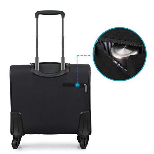Hanke Carry-On Rolling Luggage Men Women Softside Spinner