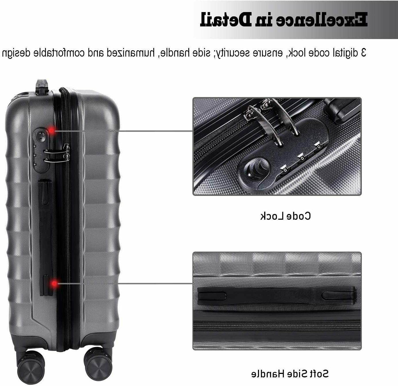 CarryOne Hardside Carry Luggage, Lightweight Spinner Wheels,