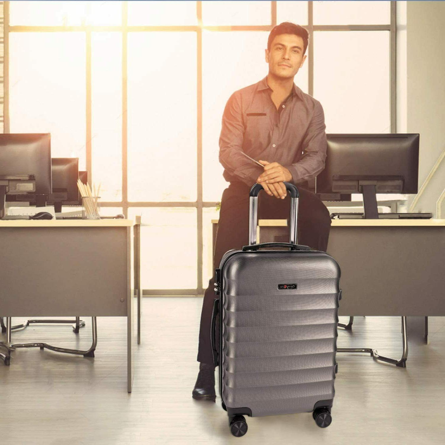 CarryOne Hardside Luggage, Lightweight Suitcase with Spinner Wheels,