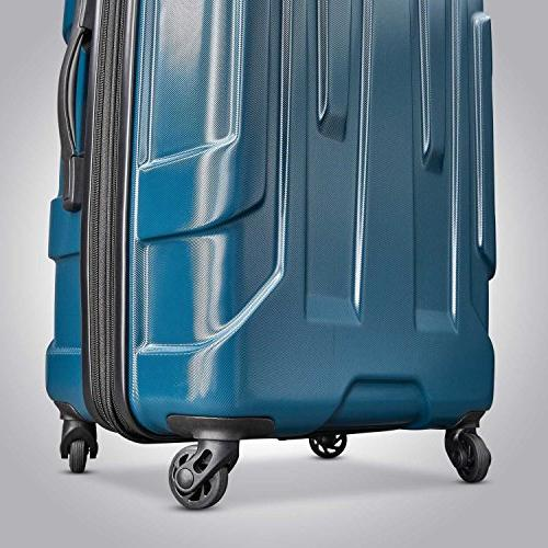 Samsonite Expandable Carry Luggage Spinner 20 Inch, Teal