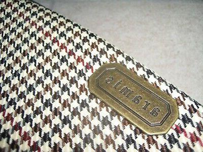 ARAMIS Houndstooth TOILETRIES Carry on Travel Bag NEW