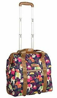 Lily Bloom Design Pattern Carry on Bag Wheeled Cabin Tote