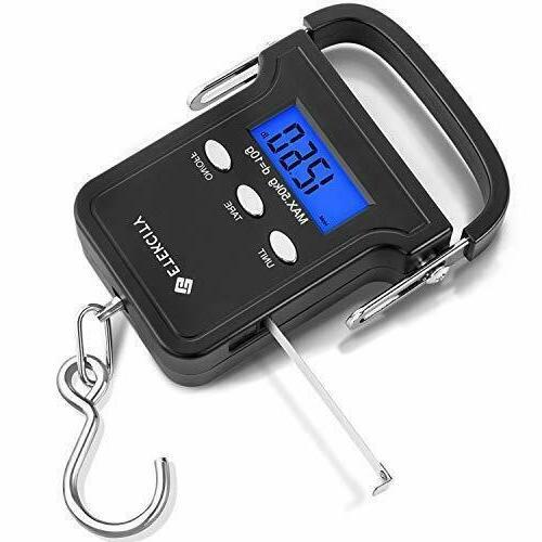 digital fish scale 110lb 50kg portable luggage