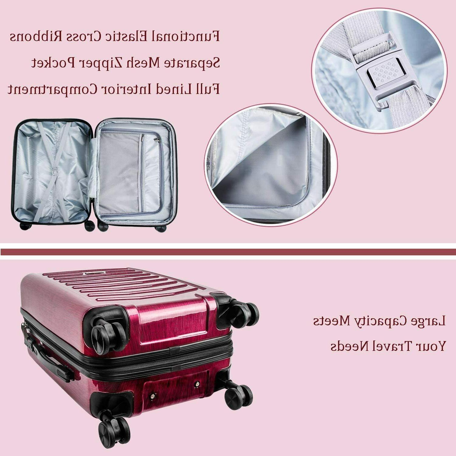 CarryOne Expandable Luggage Inch on Luggage Travel with Sile
