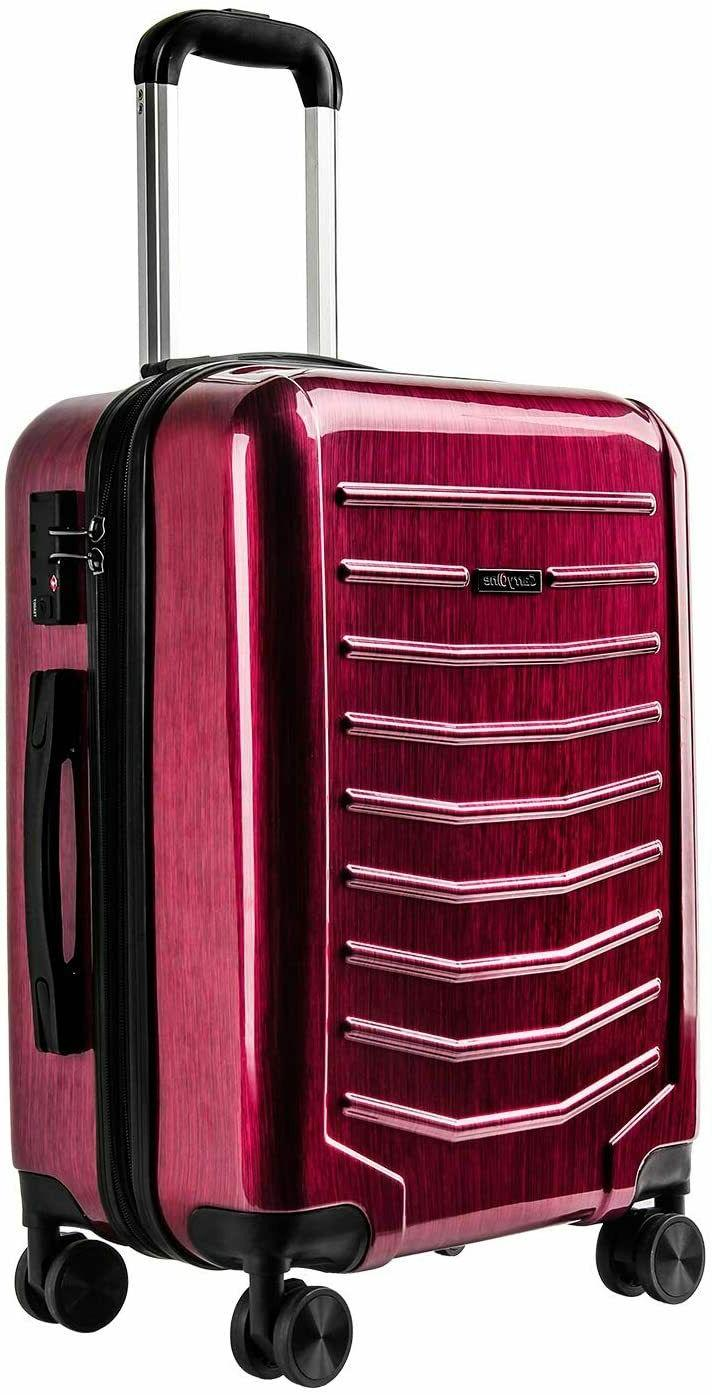 expandable luggage 21 inch carry on luggage
