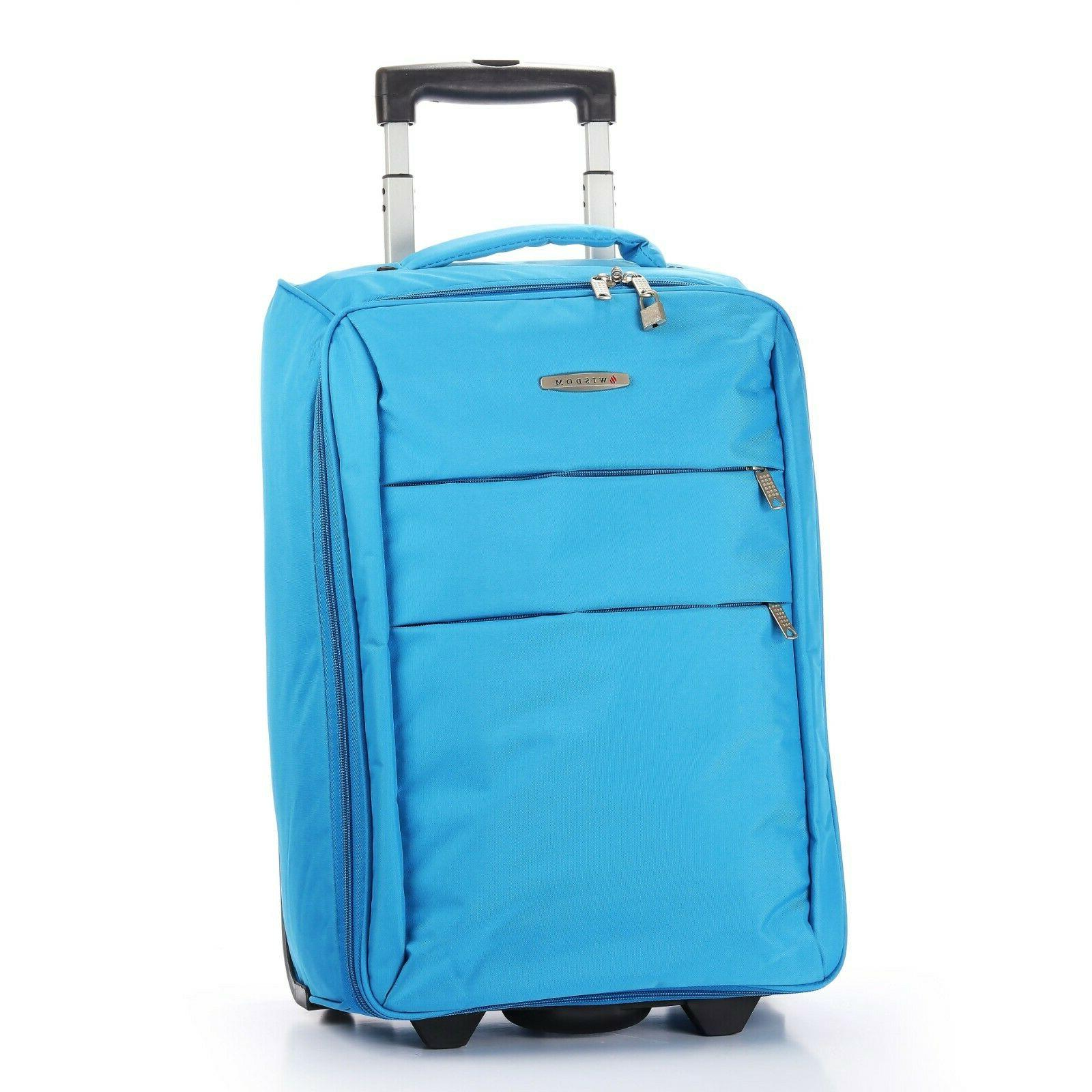 """Foldable Rolling 20"""" Carry on Lightweight Black"""