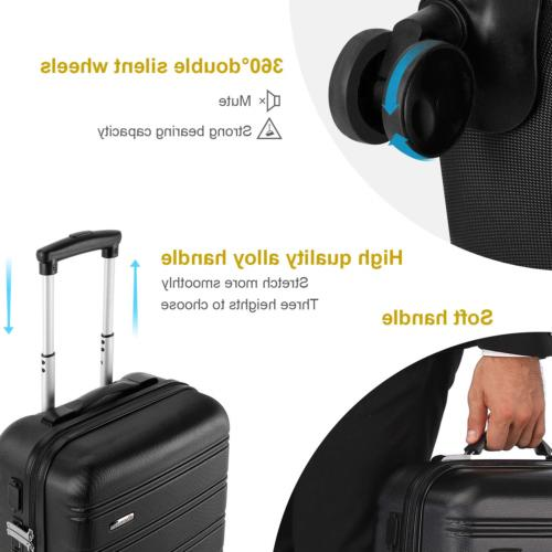 REYLEO Luggage 20 Inch Luggage Travel with