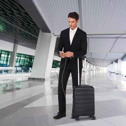 REYLEO 20 Inch Luggage Lightweight Travel