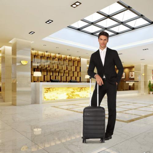 REYLEO Hardside 20 On Luggage Lightweight with