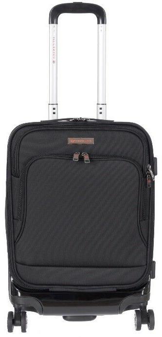 hybrid hard soft carry on spinner luggage