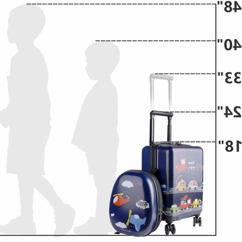Kids Carry on Set with Travel Suitcase for