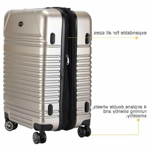 20 luggage expandable suitcase carry on tsa