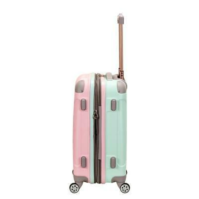 Melbourne in. Carry on Luggage, Mint/Pink
