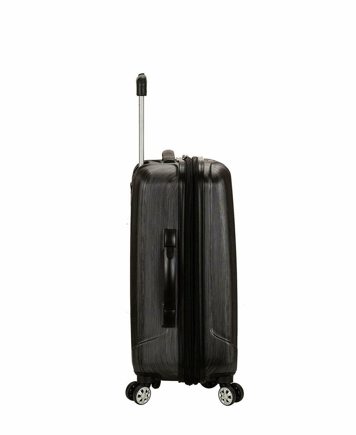 Rockland Expandable ABS Carry Luggage Metallic