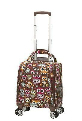 Rockland Melrose Wheeled Underseat Carry On Spinner, Owl