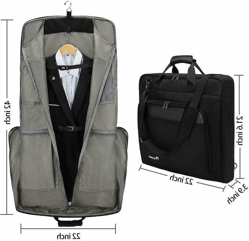 Multi Pocket Garment Bag Hanging Suit Carrier For Travel Trip