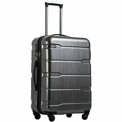 """Coolife Luggage Expandable 20"""" Suitcase PC+ABS Spinner Built"""
