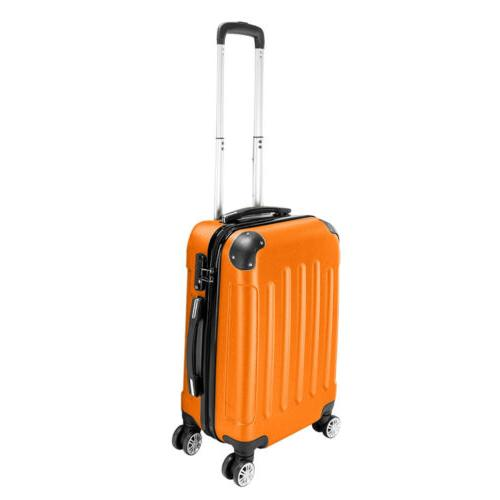 Orange Luggage Set Trolley On TSA