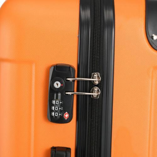 Orange Trolley Suitcase TSA Lock