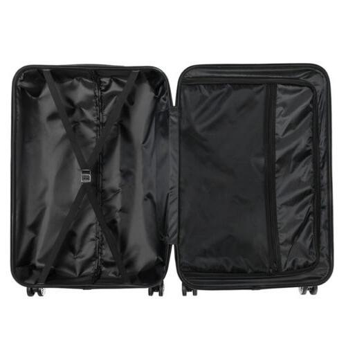 Orange 3 Pieces Luggage Set ABS Trolley TSA