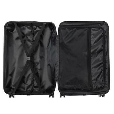 "3Pcs 20/24/28"" Luggage Travel Bag TSA ABS Trolley Carry Orange"